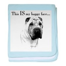 Chinese Sharpei Happy Face baby blanket