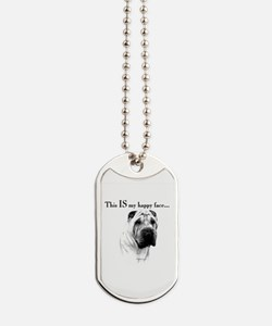 Chinese Sharpei Happy Face Dog Tags
