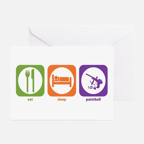 Eat Sleep Paintball Greeting Cards (Pk of 10)