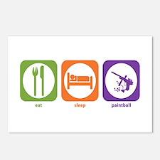 Eat Sleep Paintball Postcards (Package of 8)