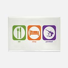 Eat Sleep Paintball Rectangle Magnet
