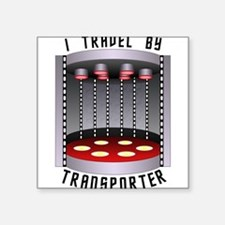 I Travel by Transporter Sticker