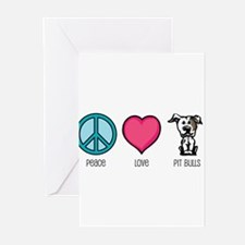 Peace Love & Pit Bulls Greeting Cards