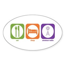 Eat Sleep Radio Oval Decal