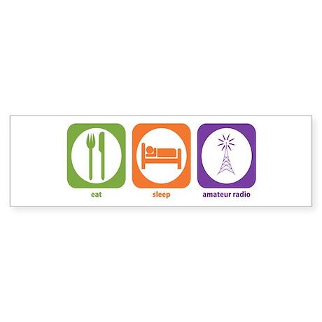 Eat Sleep Radio Bumper Sticker