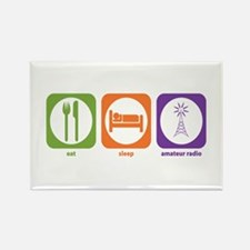 Eat Sleep Radio Rectangle Magnet