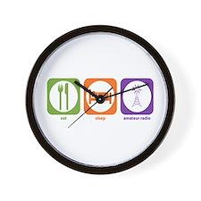 Eat Sleep Radio Wall Clock