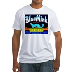 Blue Mink Brand Fitted T-Shirt