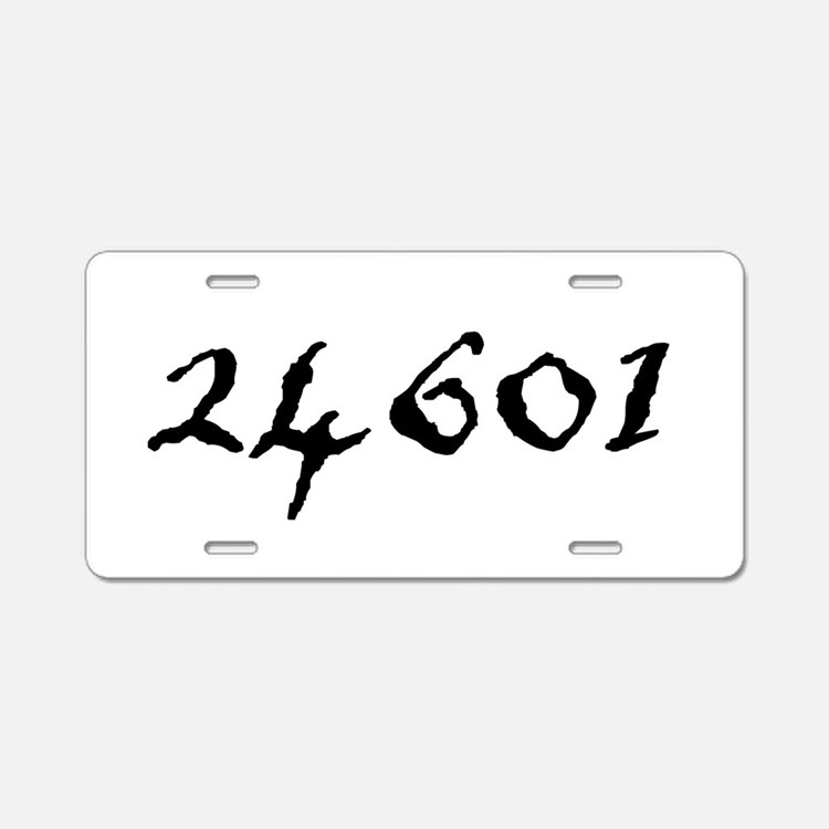 24601 Aluminum License Plate