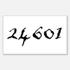 24601 Sticker (Rectangle)