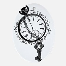 The Time is Now! Design Ornament (Oval)
