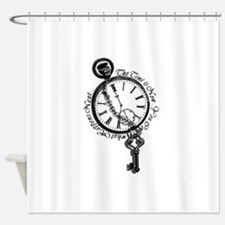 The Time is Now! Design Shower Curtain