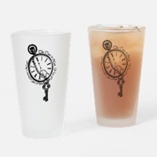 The Time is Now! Design Drinking Glass