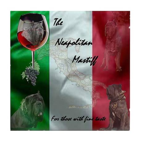 Limited Design Italian Mastiff Tile Coaster