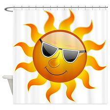 Summer Sun Smile Shower Curtain