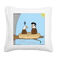 Bald Eagle Wig Square Canvas Pillow