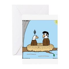 Bald Eagle Wig Greeting Cards (Pk of 10)