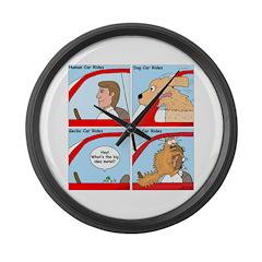 Pet Car Rides Large Wall Clock