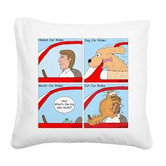 Pet Car Rides Square Canvas Pillow