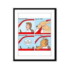 Pet Car Rides Framed Panel Print