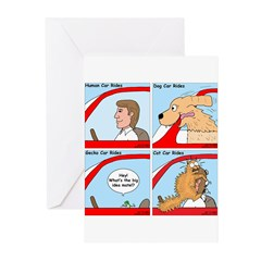 Pet Car Rides Greeting Cards (Pk of 20)