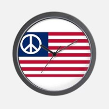 Patriotic American Flag Red White and Peace Wall C