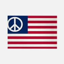 Patriotic American Flag Red White and Peace Rectan