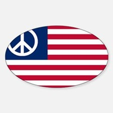 Patriotic American Flag Red White and Peace Sticke