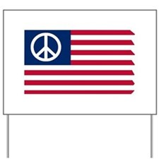 Patriotic American Flag Red White and Peace Yard S