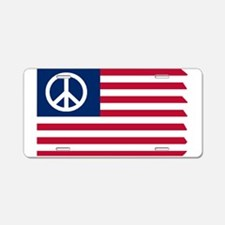 Patriotic American Flag Red White and Peace Alumin