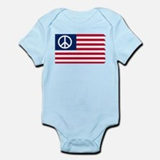 Patriotic American Flag Red White and Peace Infant