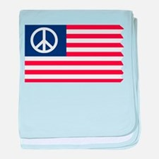 Patriotic American Flag Red White and Peace baby b