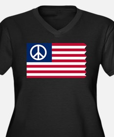 Patriotic American Flag Red White and Peace Women'
