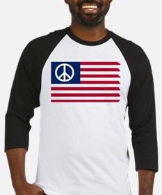 Patriotic American Flag Red White and Peace Baseba