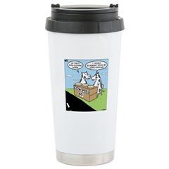 Cow Pies Stainless Steel Travel Mug