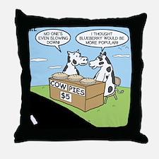 Cow Pies Throw Pillow
