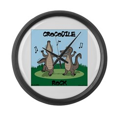 Crocodile Rock Large Wall Clock