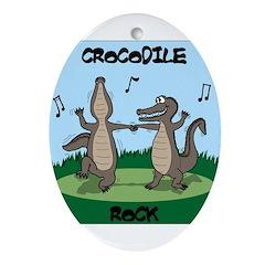 Crocodile Rock Ornament (Oval)
