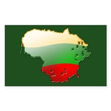 """""""Lithuania Bubble Map"""" Rectangle Decal"""