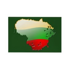 """""""Lithuania Bubble Map"""" Rectangle Magnet (100 pack)"""
