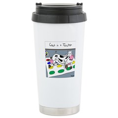 Cows in a Twister Stainless Steel Travel Mug