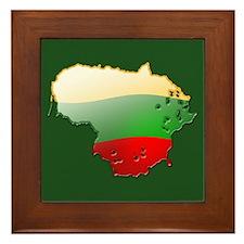 """Lithuania Bubble Map"" Framed Tile"