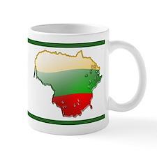 """""""Lithuania Bubble Map"""" Mug"""