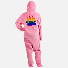 GAY Bear Rainbow Paw Footed Pajamas
