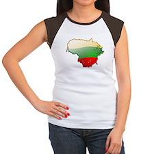 """""""Lithuania Bubble Map"""" Women's Cap Sleeve T-Shirt"""