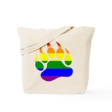 GAY Bear Rainbow Paw Tote Bag