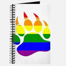 GAY Bear Rainbow Paw Journal