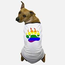 GAY Bear Rainbow Paw Dog T-Shirt