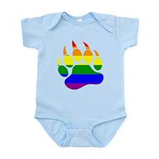 GAY Bear Rainbow Paw Infant Bodysuit