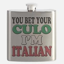 Italian Saying Flask